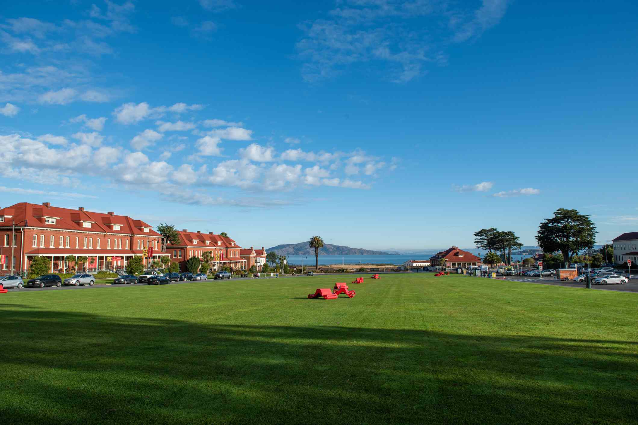 The grounds outside the Walt Disney Museum in San Francisco