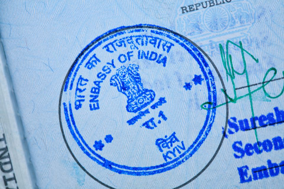 Indian visa types explained which visa should you get indian embassy stamp in a passport altavistaventures Image collections