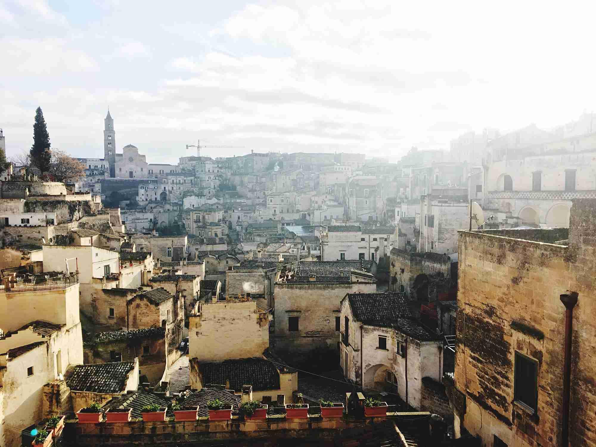 Matera Cityscape Against Sky