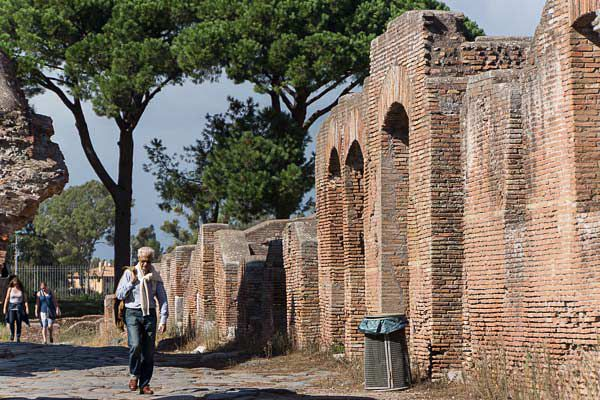 A Street in Ostia Antica, the Ancient Port of Rome