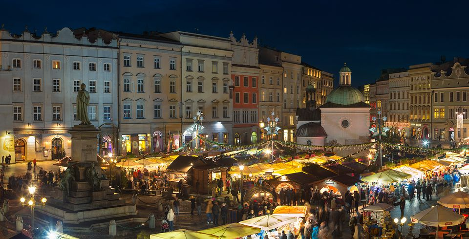 Christmas Market in Market Square, Krakow