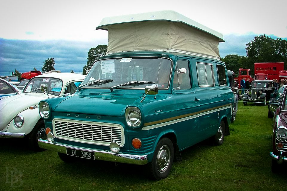Classic Irish camper-van based on a Ford Transit ... maybe the best size for the Irish backroads