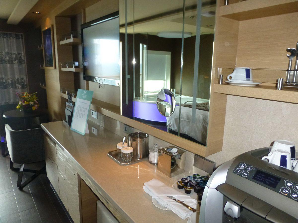 Norwegian Breakaway Spa Suite Desk Area