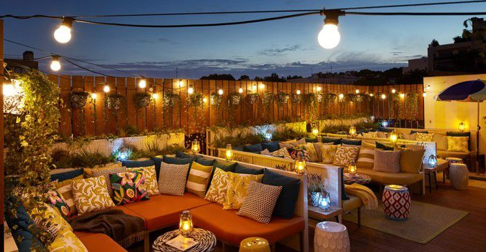 The rooftop bar at Mama Shelter in Paris
