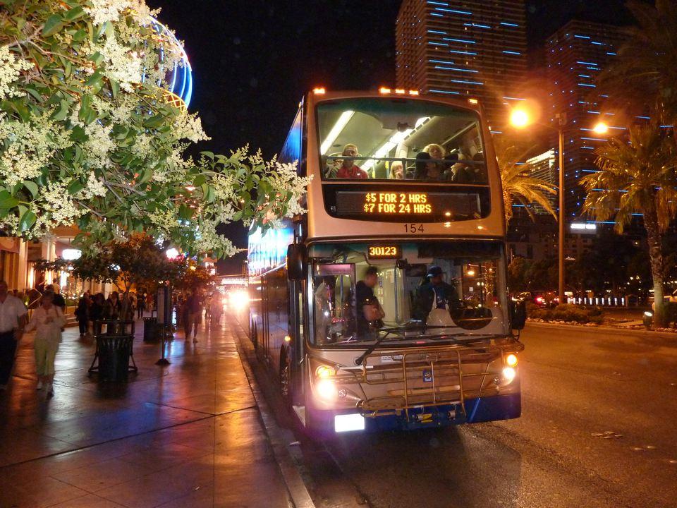 The Deuce double-decker bus in Las Vegas.