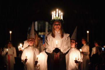 The Annual Sankta Lucia Festival Of Light