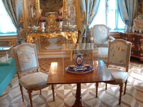 Peterhof - Sitting Room in the Grand Palace of Peterhof Near St. Petersburg, Russia
