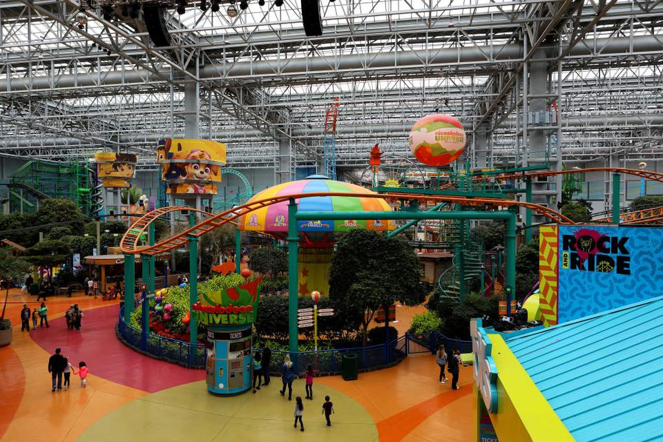 Nickelodeon Universe indoor amusement park in the center of the Mall of America