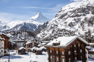 Snowy town Zermatt