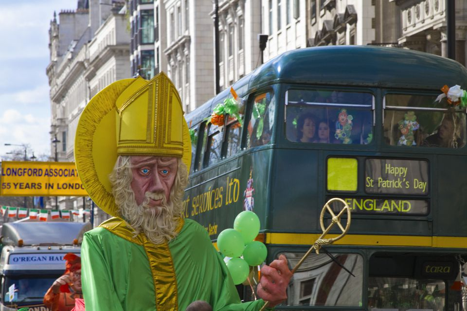 St Patrick's Day Parade in London's Piccadilly
