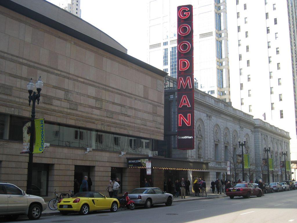 The Goodman Theatre, Chicago, Illinois. Photographed 6 April 2006.