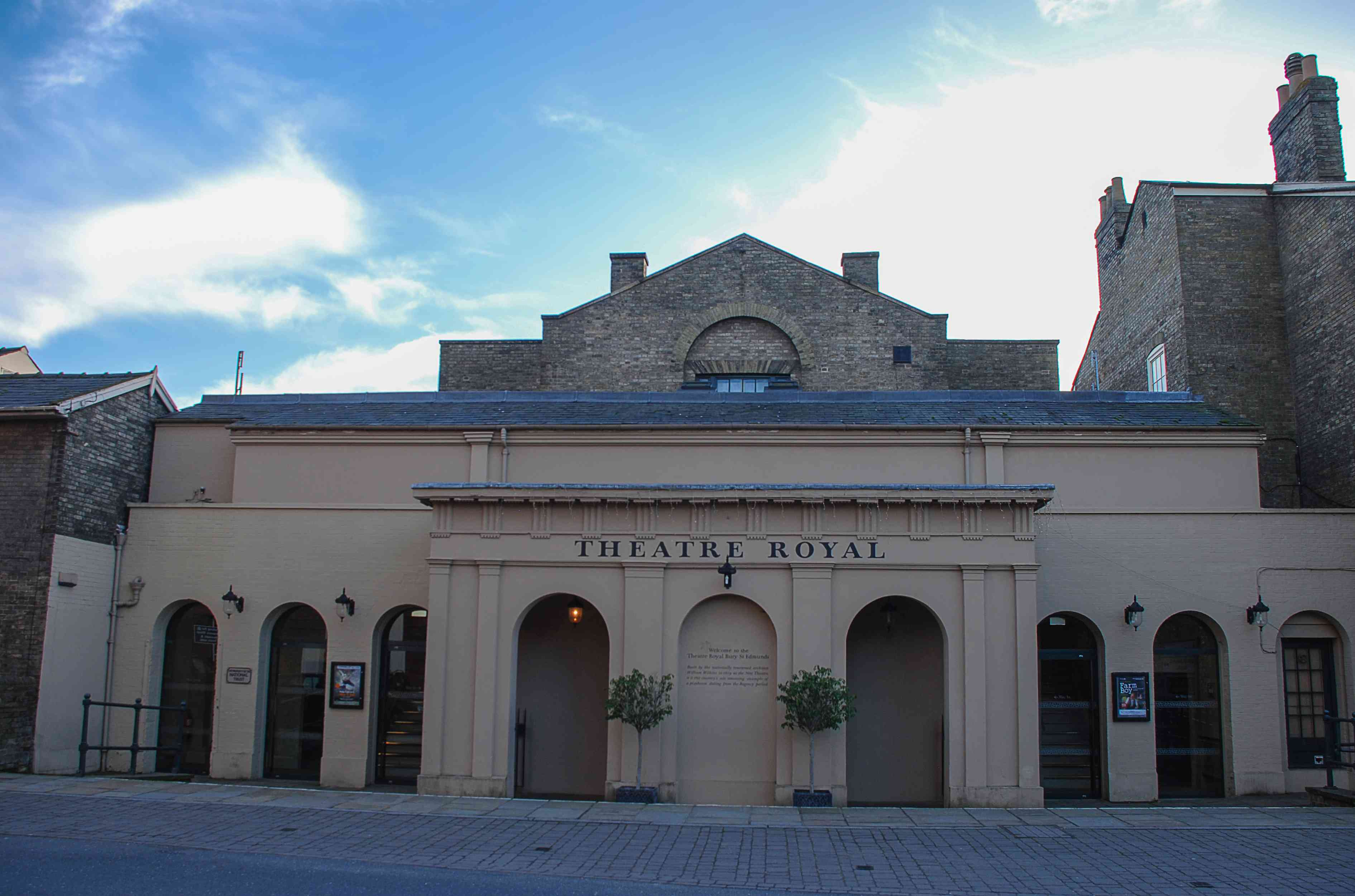 The exterior of the Theatre Royal in Bury St Edmunds, Suffolk, UK