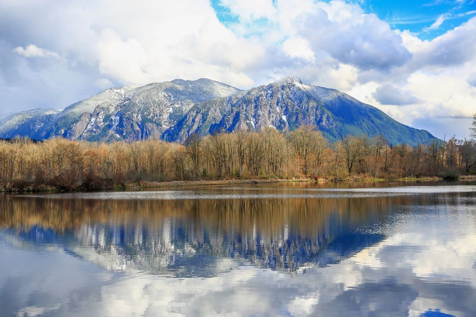 Reflection of Mount Si, WA-USA