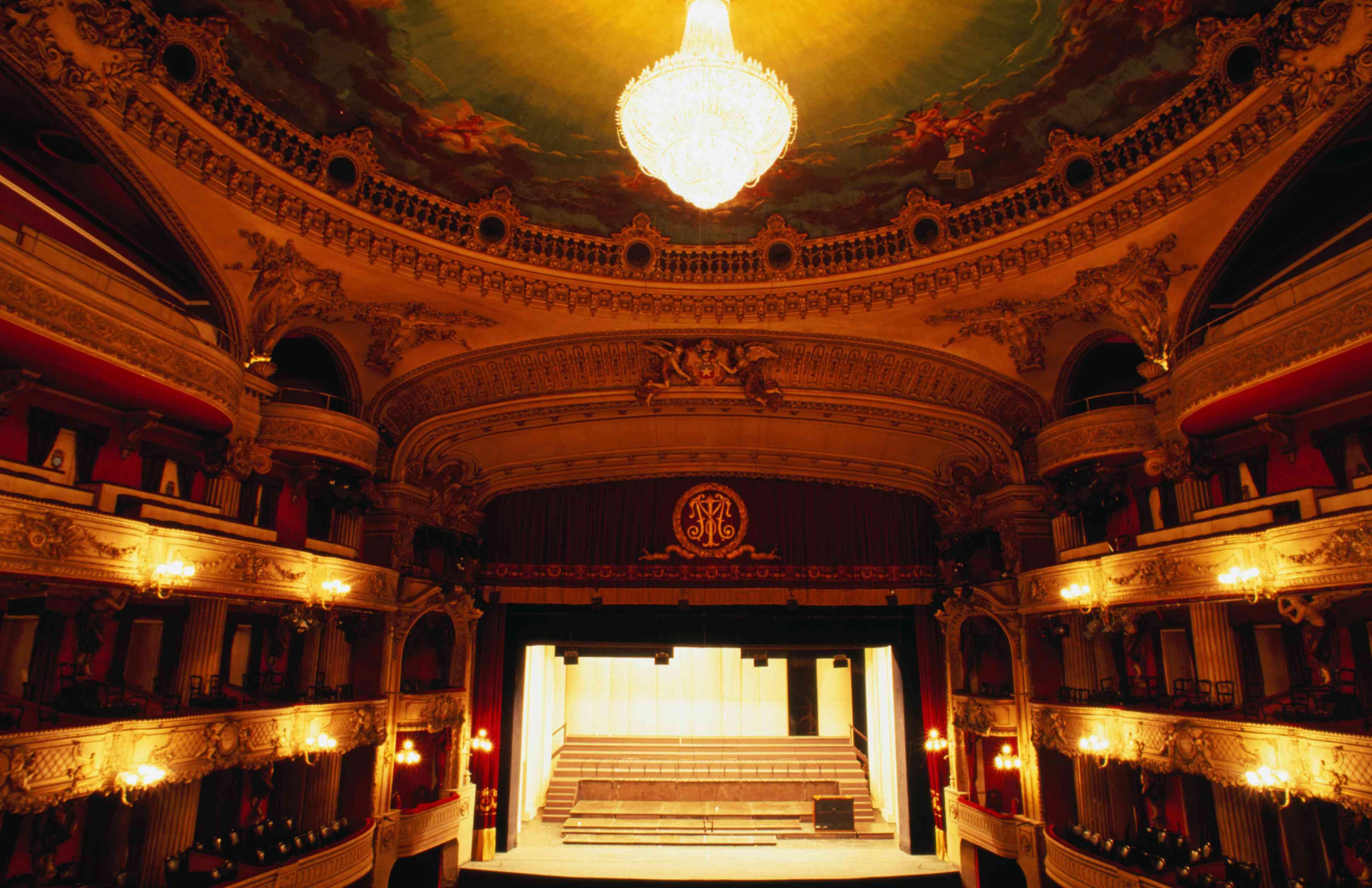 Teatro Municipal de Santiago (Santiago Opera House). The historic theater was built in 1876.