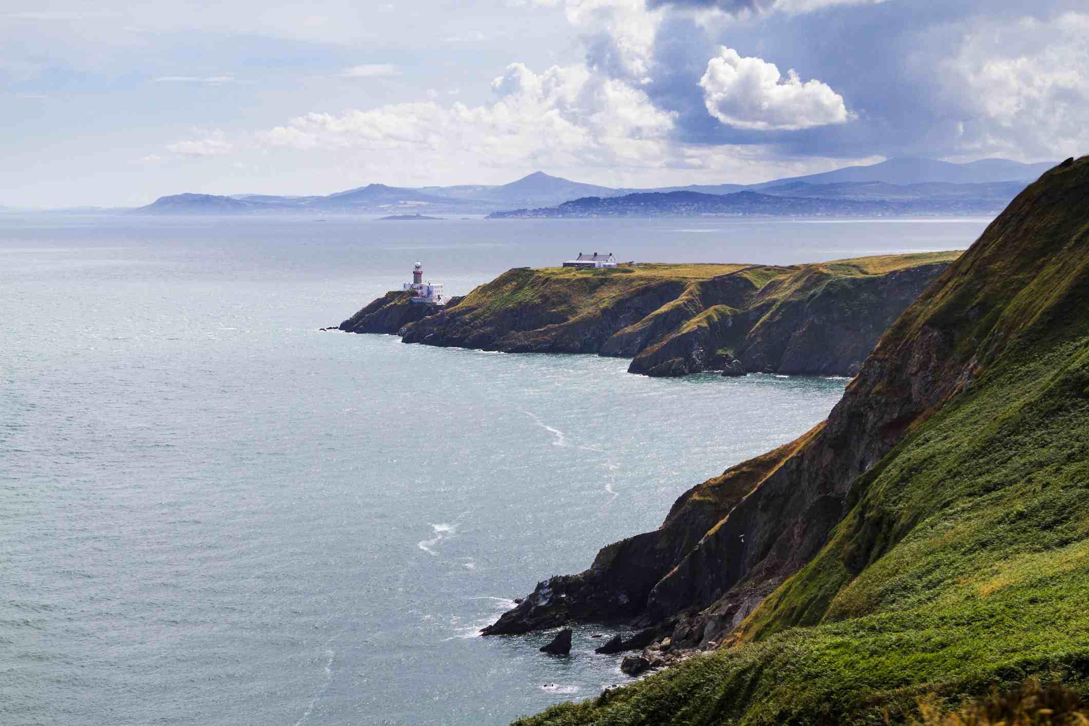 Howth ( Irish: Binn Éadair, meaning 'Éadar's peak') is a suburb of Dublin, Ireland. It is on a peninsula of the same name at the north of Dublin Bay.