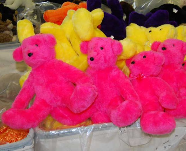 Brightly colored Stuffington Bears