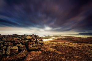 Fortress Ruins Atop Helgafell, Iceland