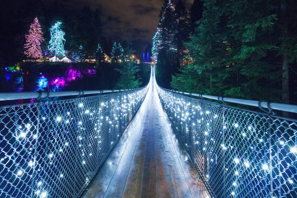 Canyon Lights at Capilano Suspension Bridge - 6 Places To See The Christmas Lights In Vancouver