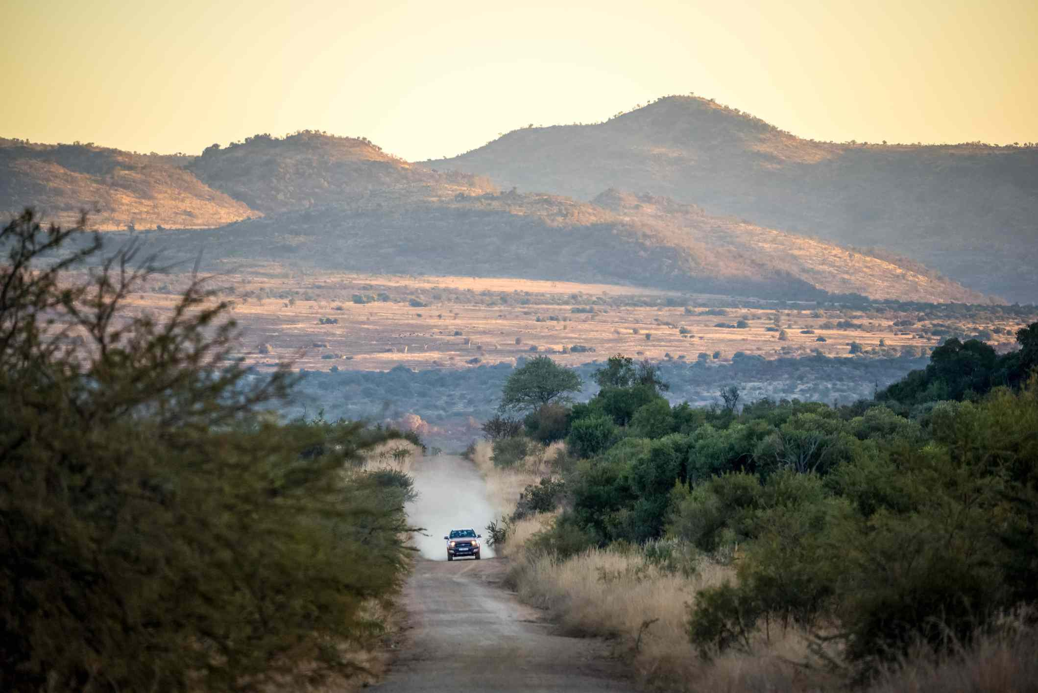 4x4 vehicle on a gravel road in South Africa