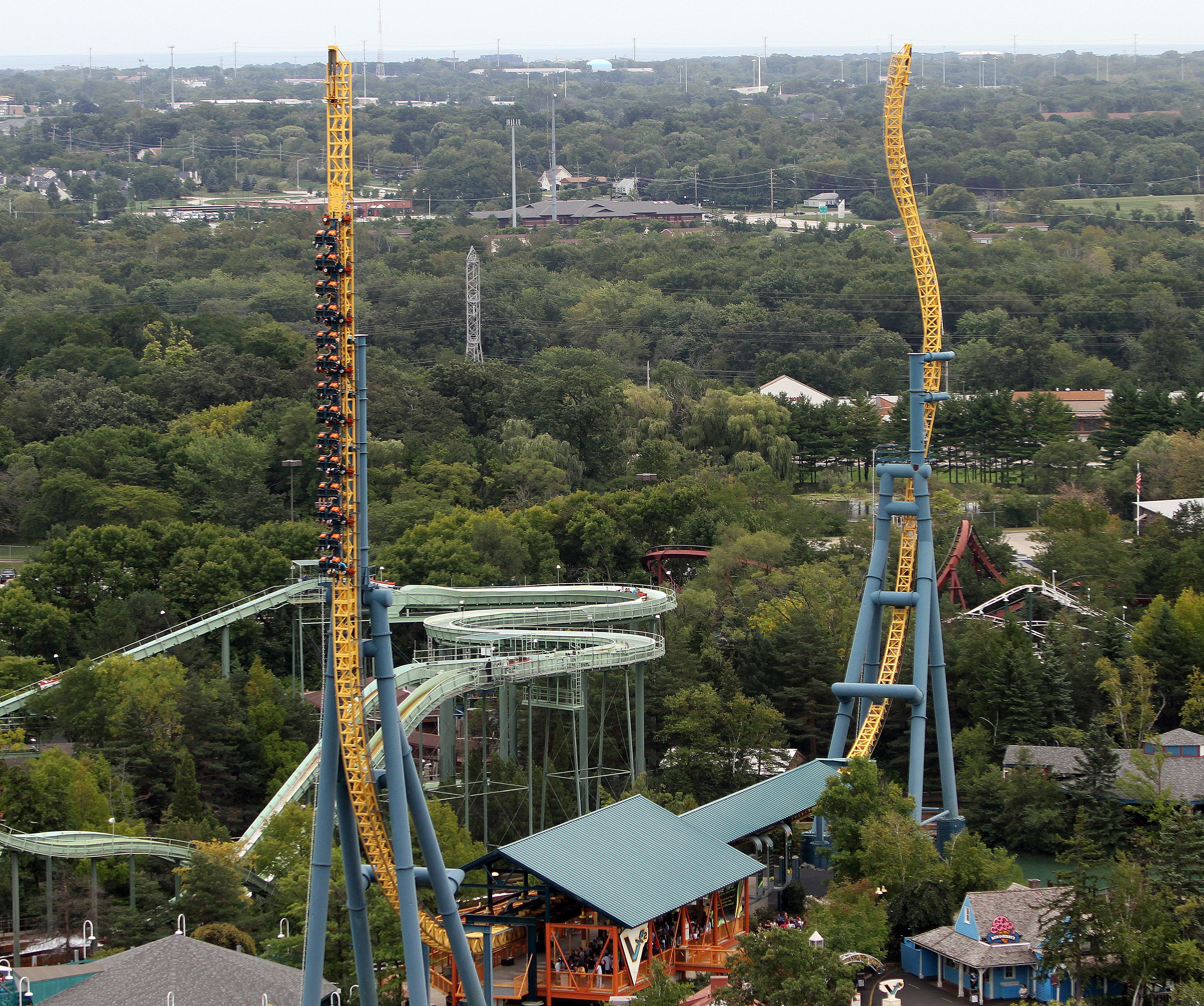 Vertical Velocity at Six Flags