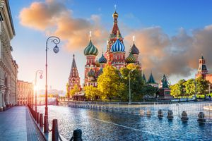 St. Basil's Cathedral in the light of morning sunlight