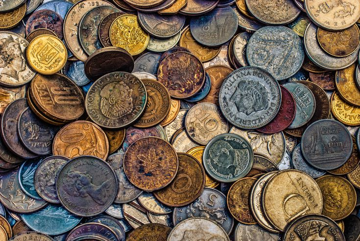 2 Pounds World Foreign Coins An Excellent Assortment With Larger Heavier Coins