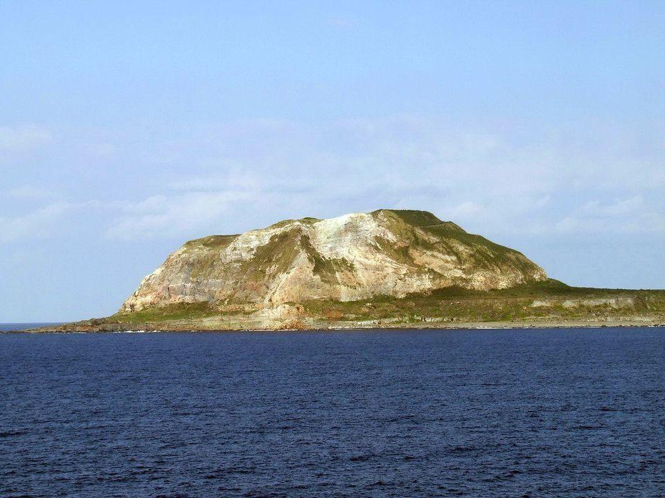 Mount Suribachi on the Japanese island of Iwo Jima