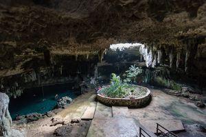 Cenote Tza Ujun Kat Merida in Valladolid Mexico