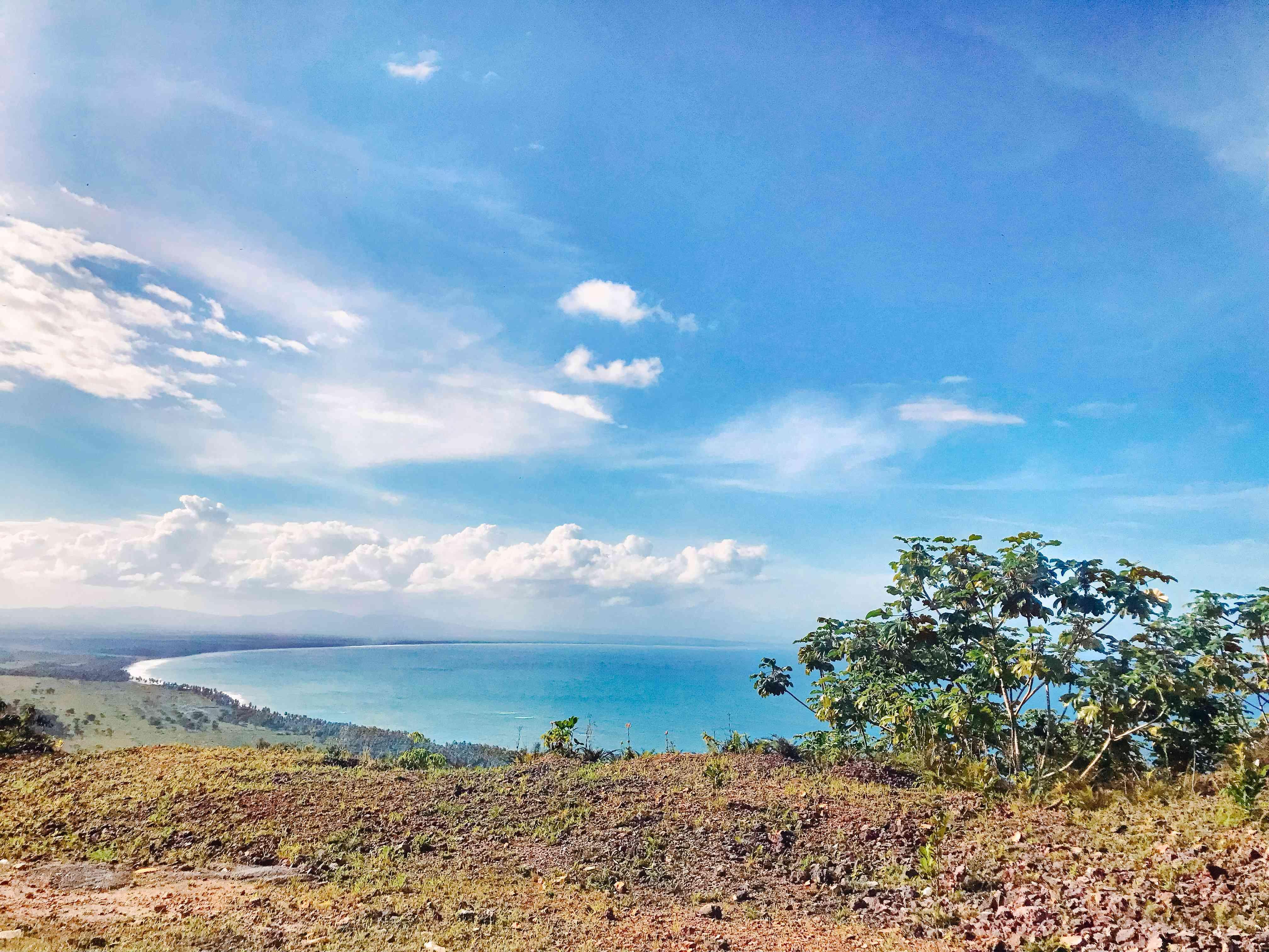 Overlooking the sea at Samana Bay