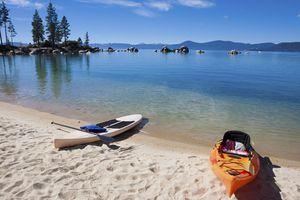Kayaks on Lake Tahoe