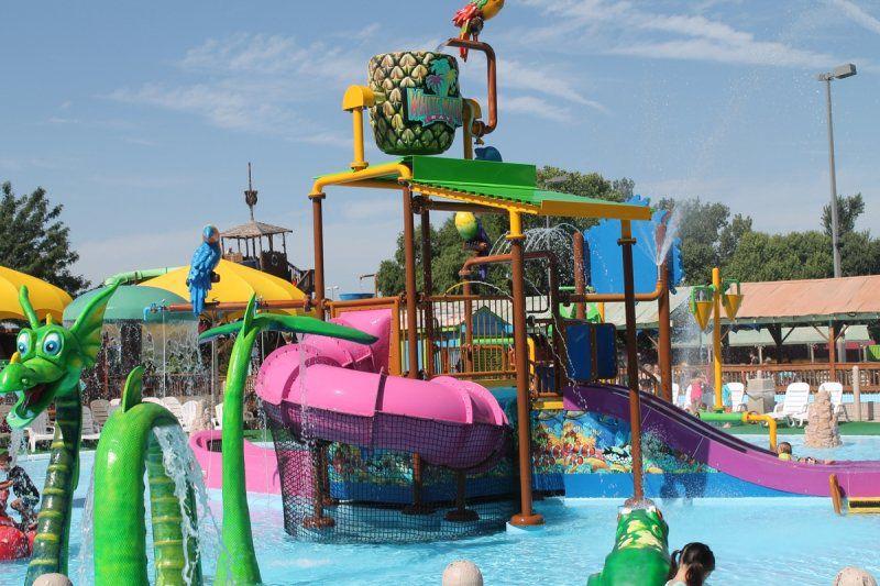 Six Flags Hurricane Harbor water park in Oklahoma City
