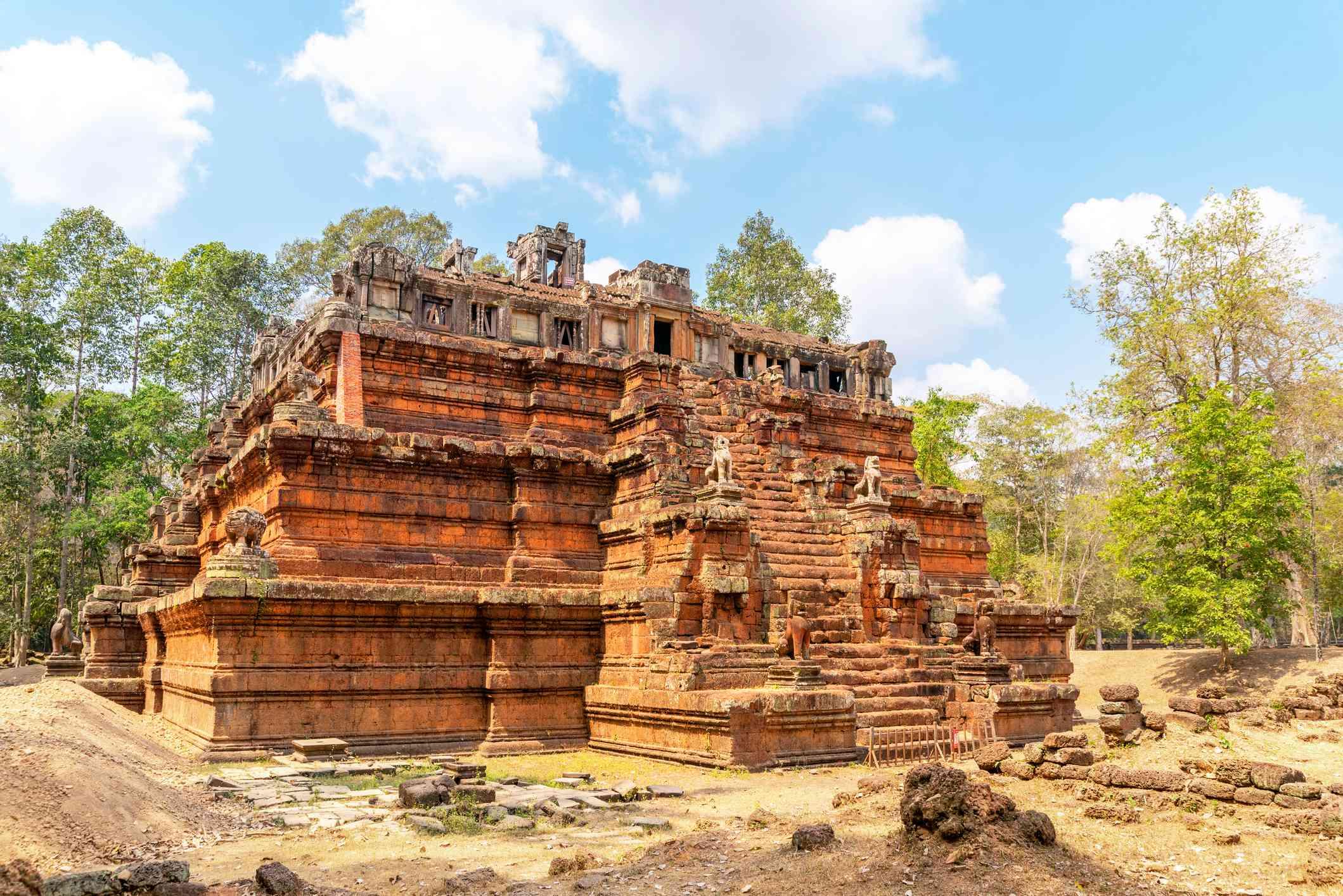 Phimeanakas temple in Angkor, Cambodia