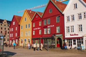 Colorful homes in Norway