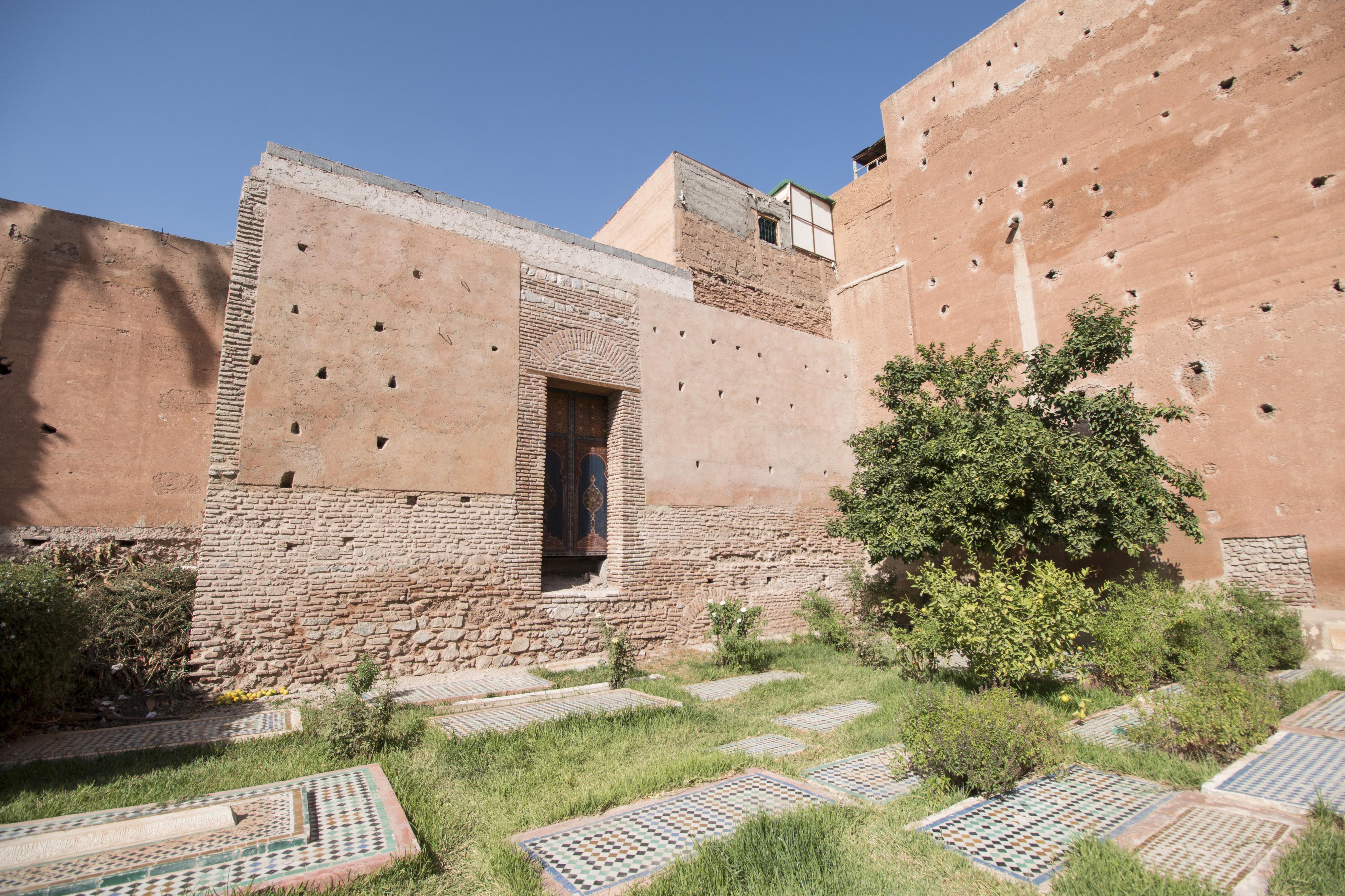 Outdoor tombs in Marrakesh