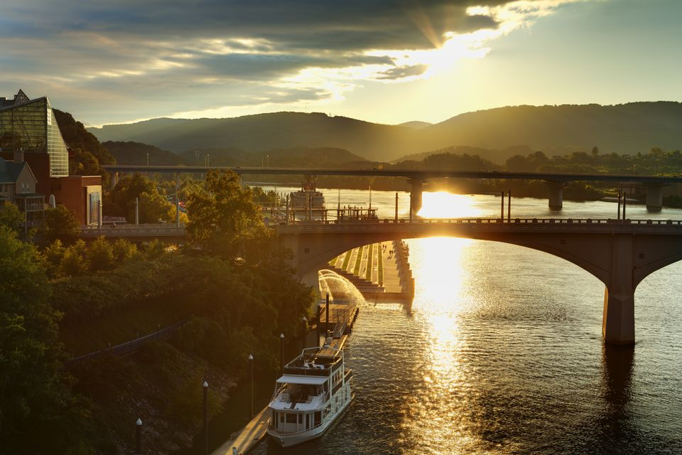 Chattanooga, Tennessee at sunset.