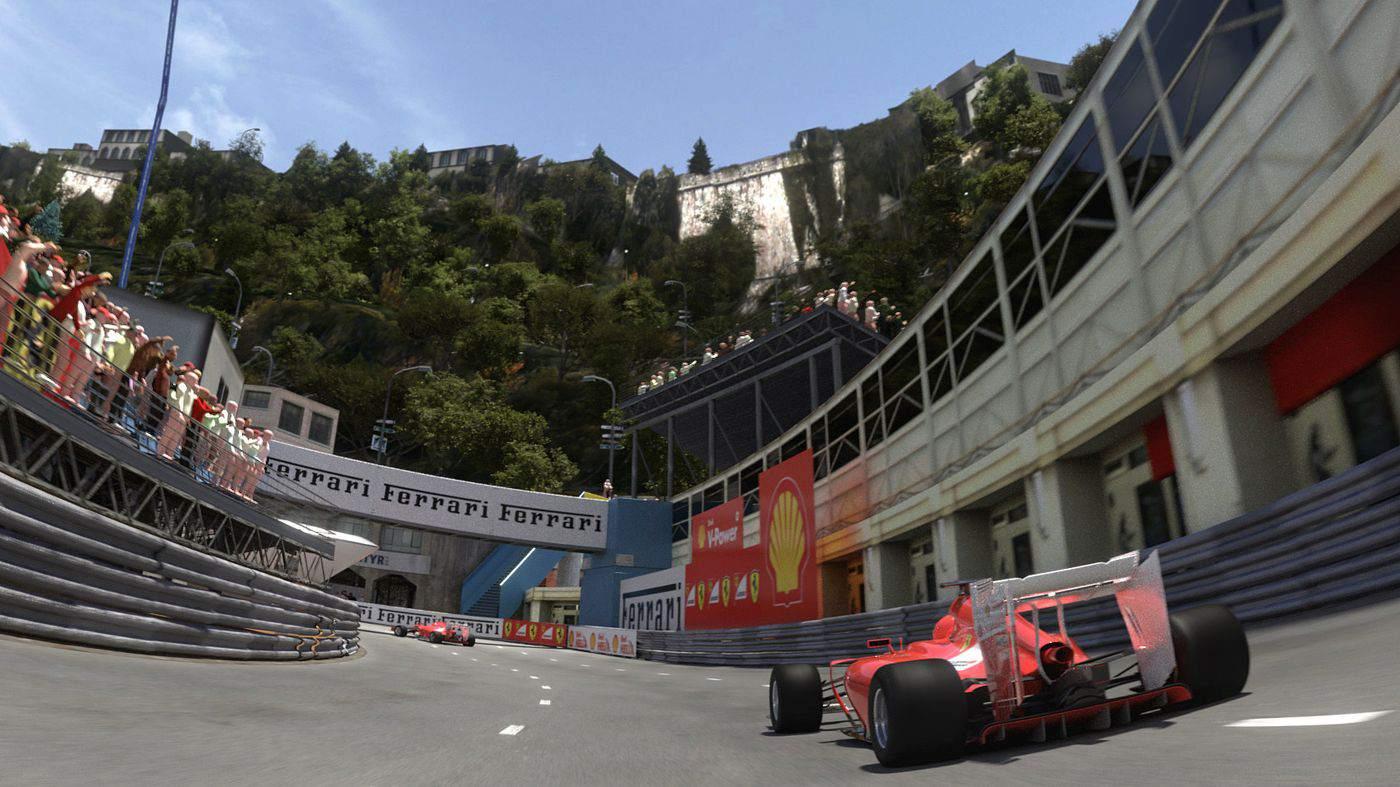Racing Legends ride at Ferrari Land