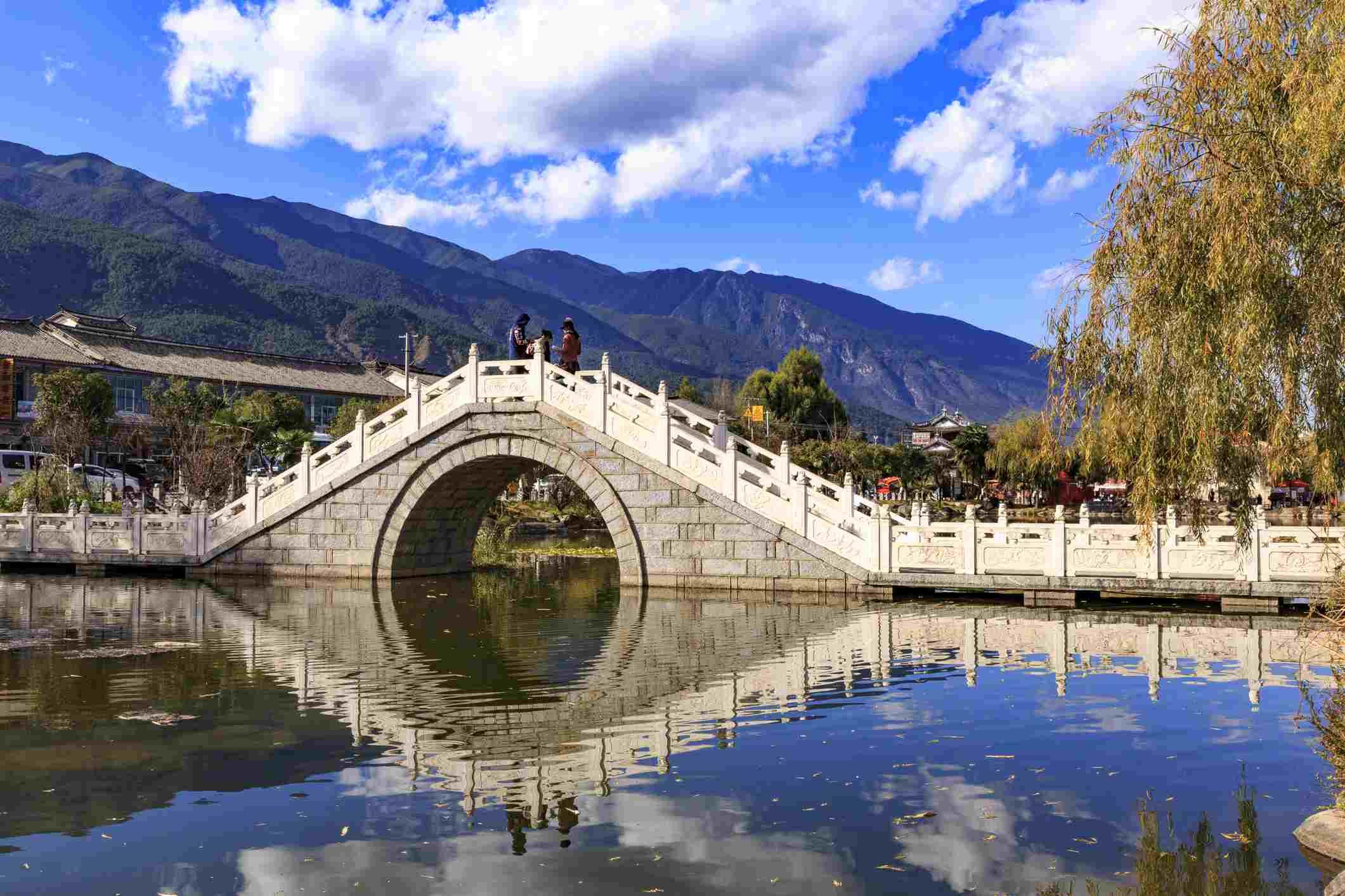 Old bridge in Xizhou China