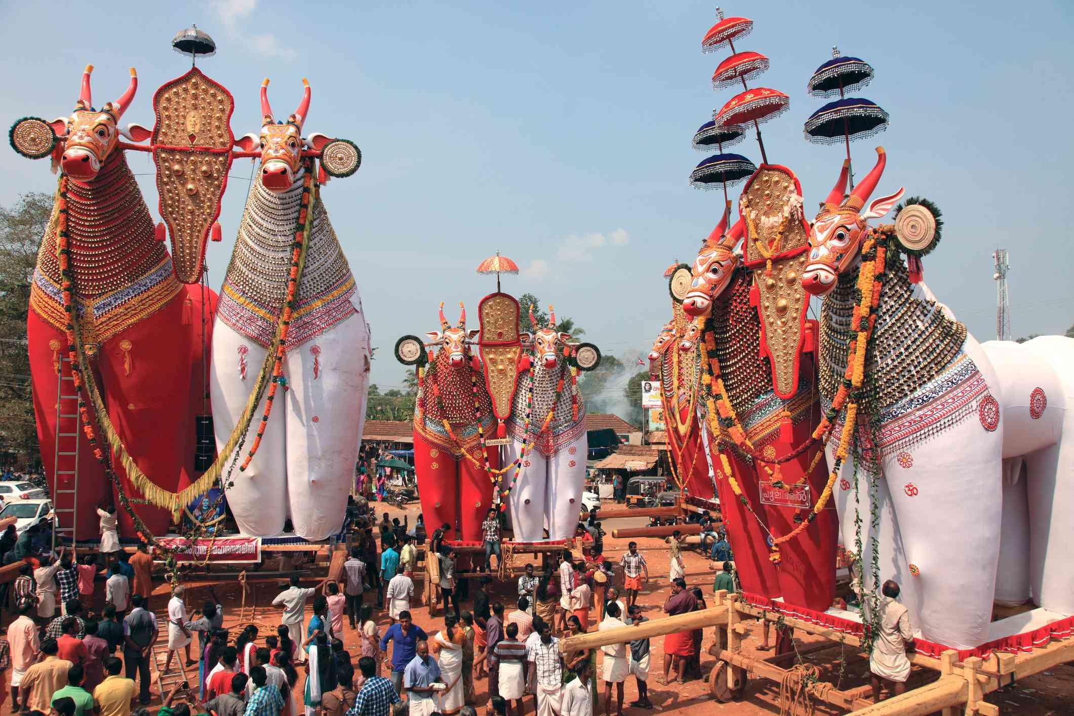 Decorated Bullock effigies of Shivratri festival