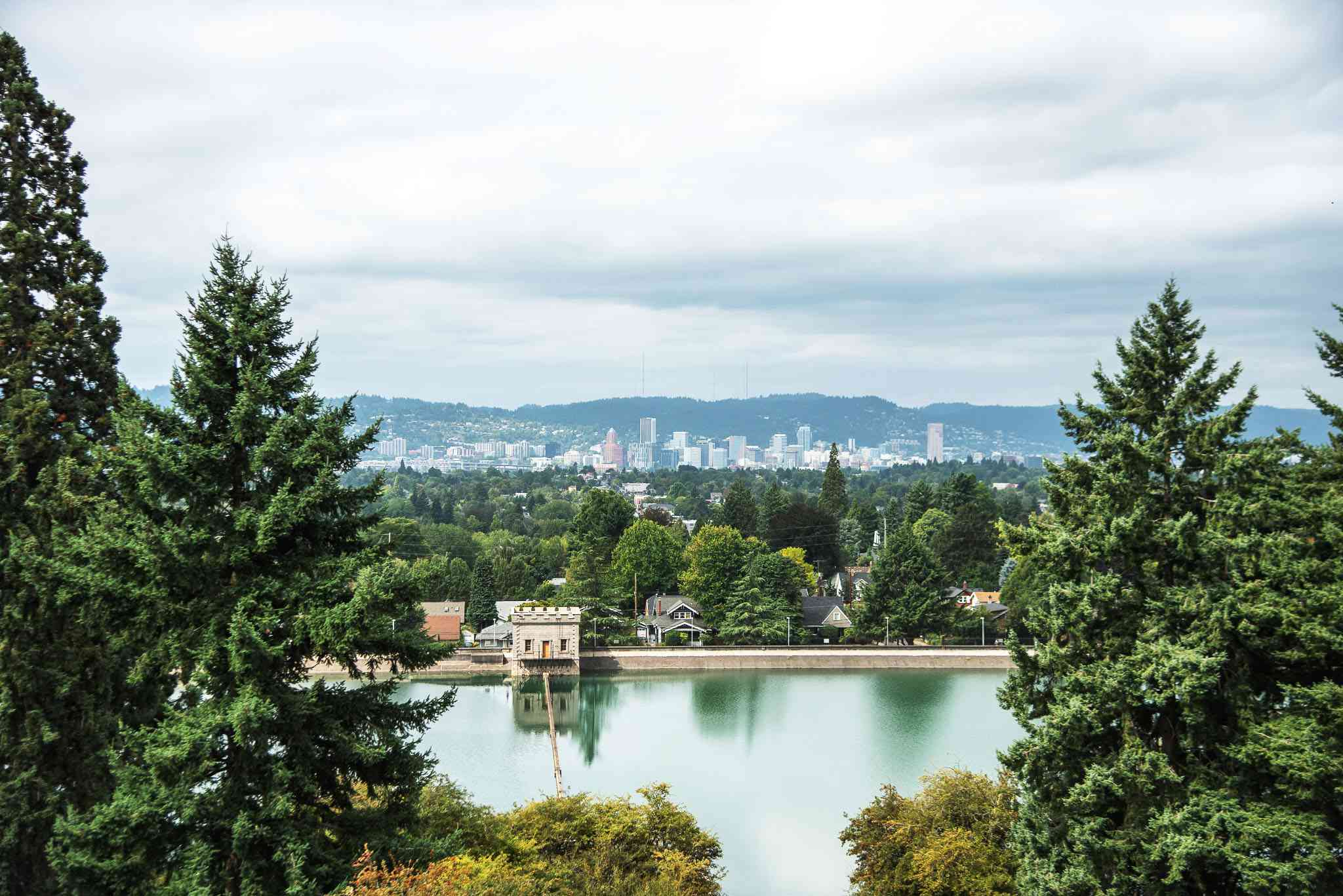 View of downtown from Mt Tabor Park