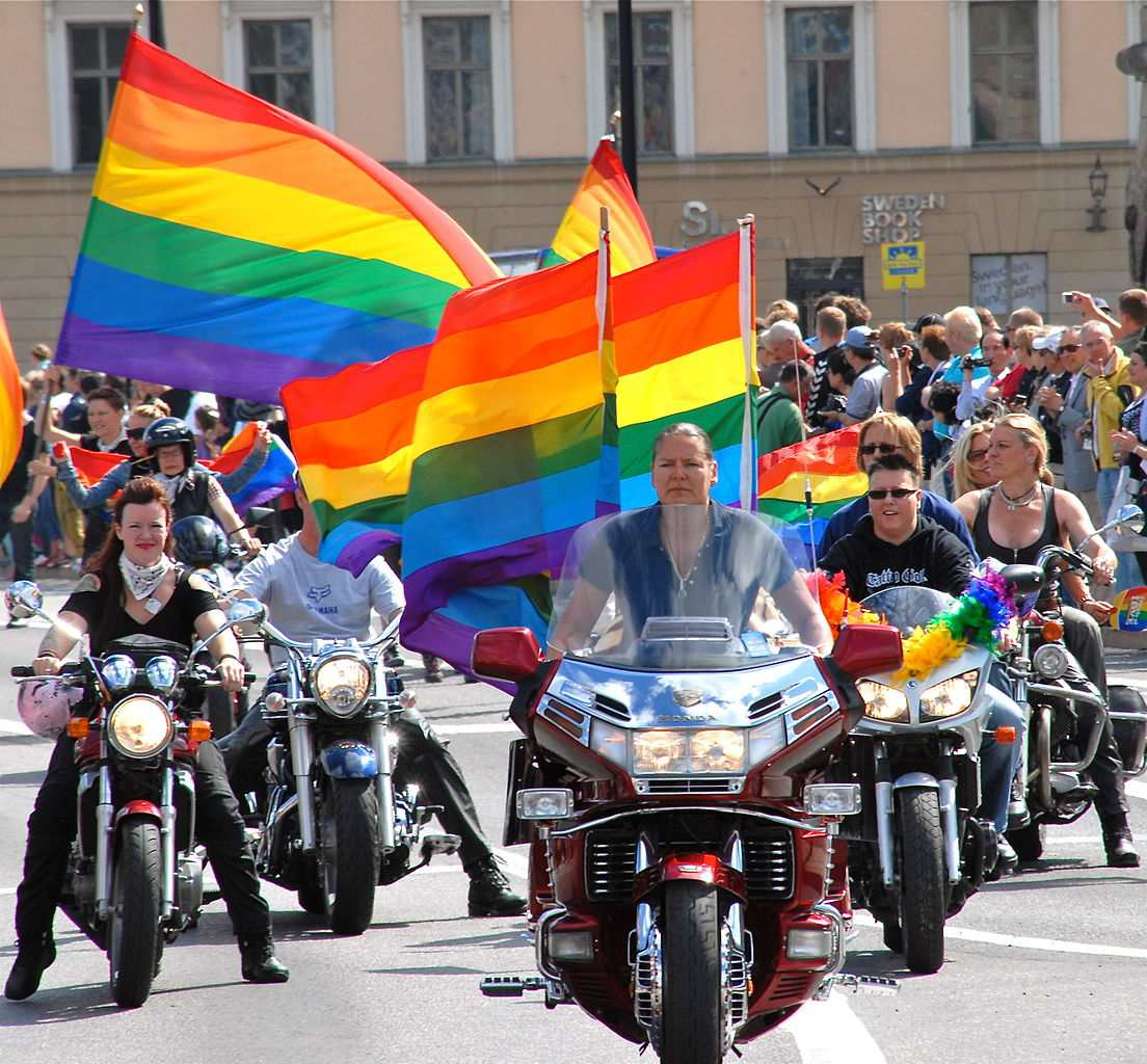 Bikers ride at Stockholm Pride 2010