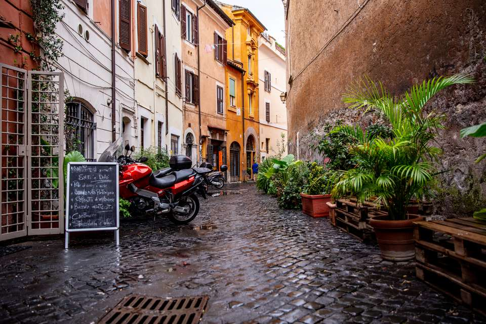 Streets of Trastevere, Rome, Italy
