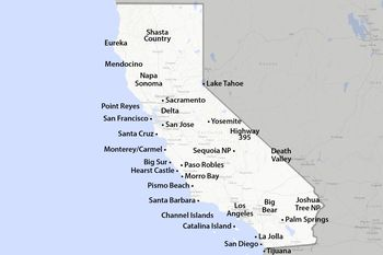 San Diego California cruising map with gay areas and spots
