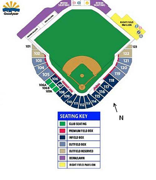 Goodyear Ballpark Seating Chart