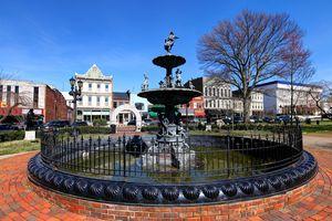 Fountain Square in downtown Bowling Green, Kentucky
