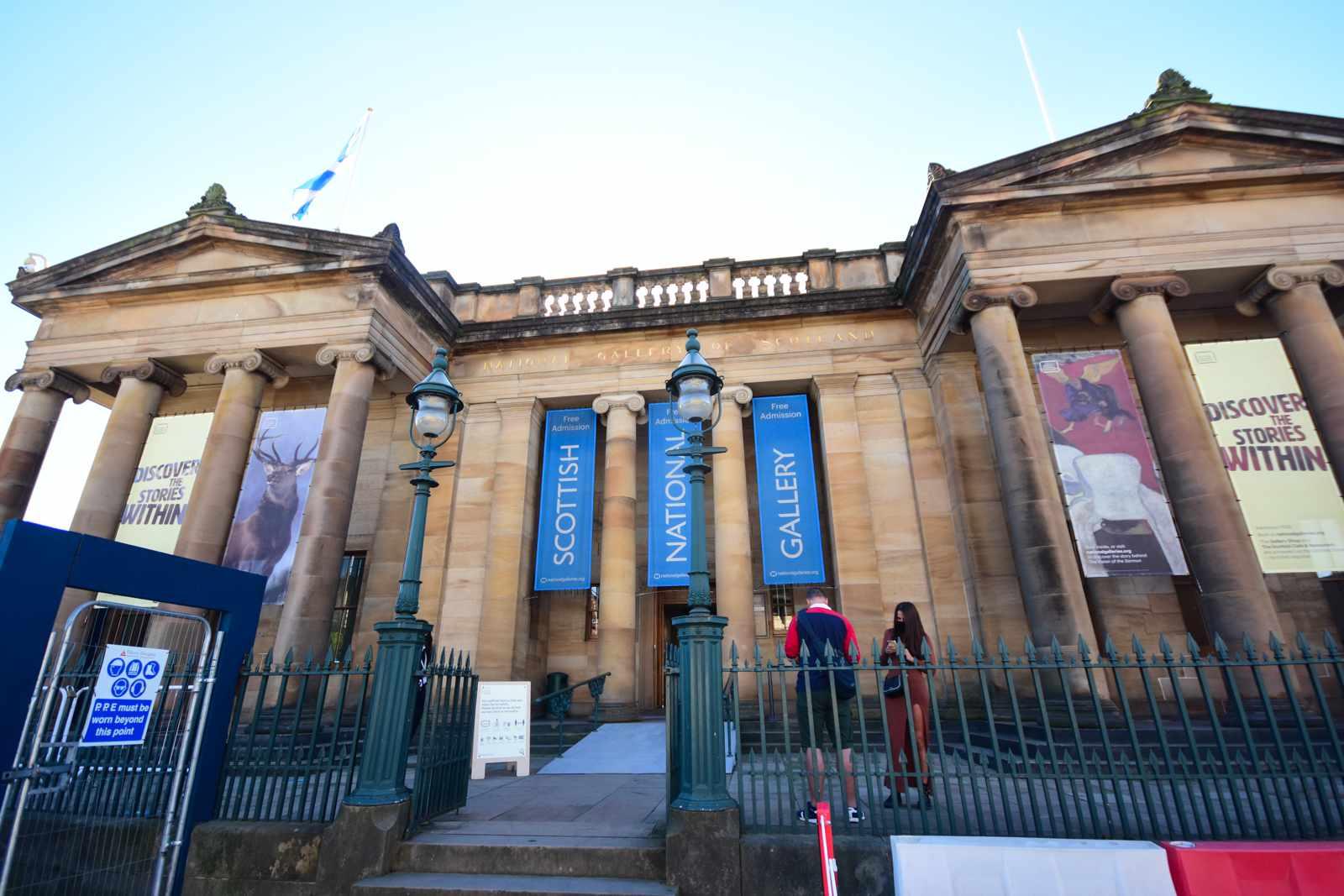 The Scottish National Gallery in Edinburgh, Scotland