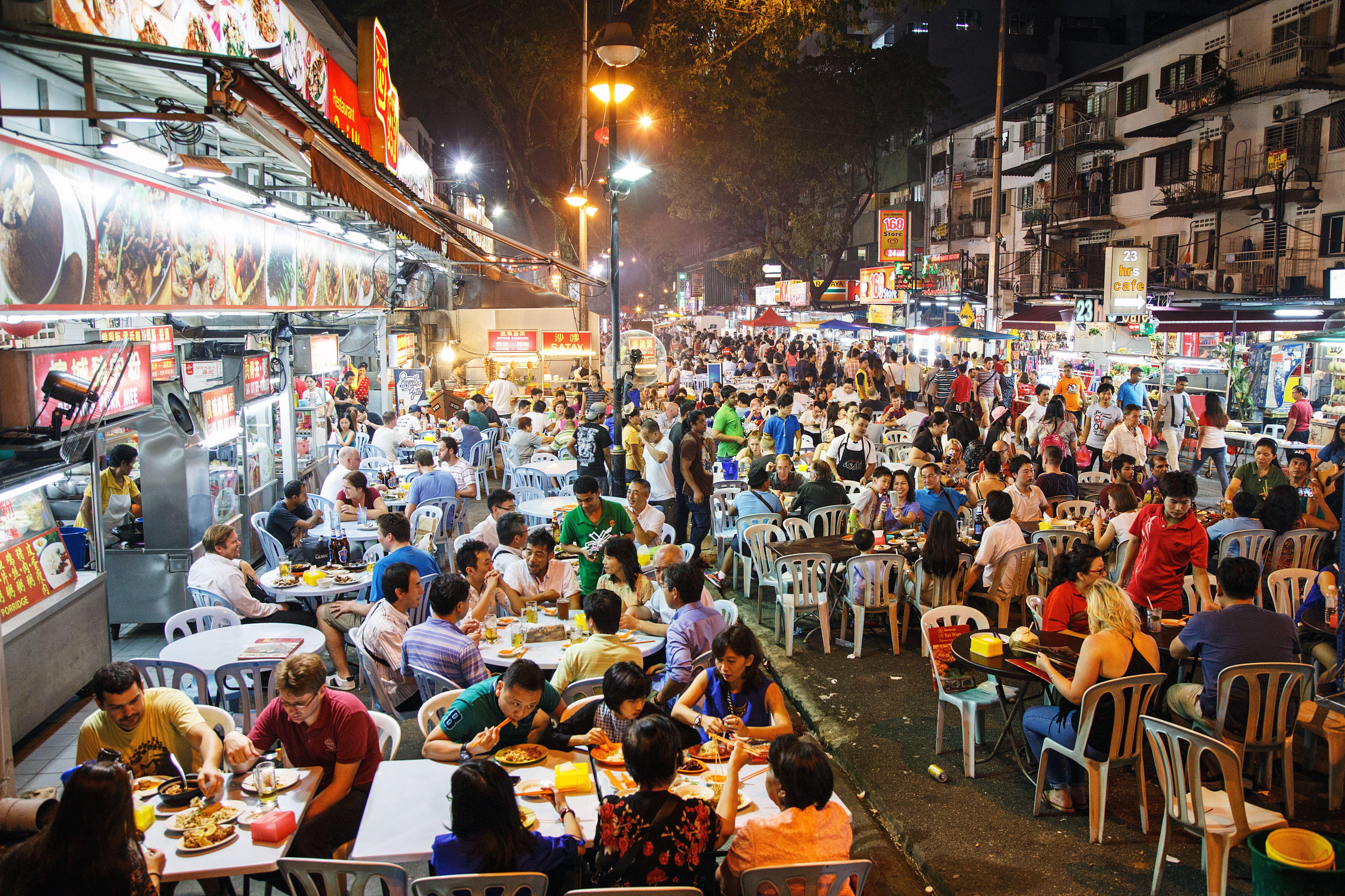 Jalan Alor in Kuala Lumpur, Malaysia