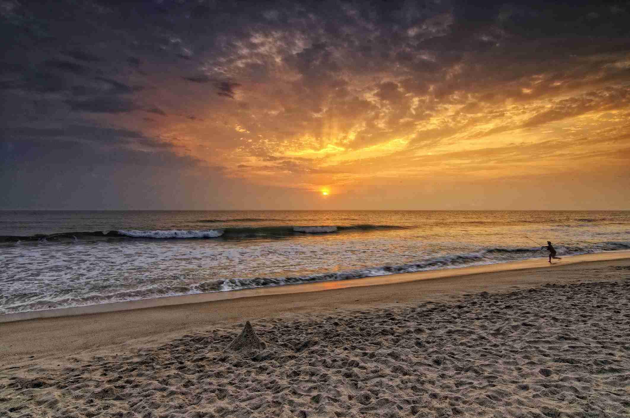 bunter Sonnenaufgang auf Playa Beach, Canaveral National Seashore