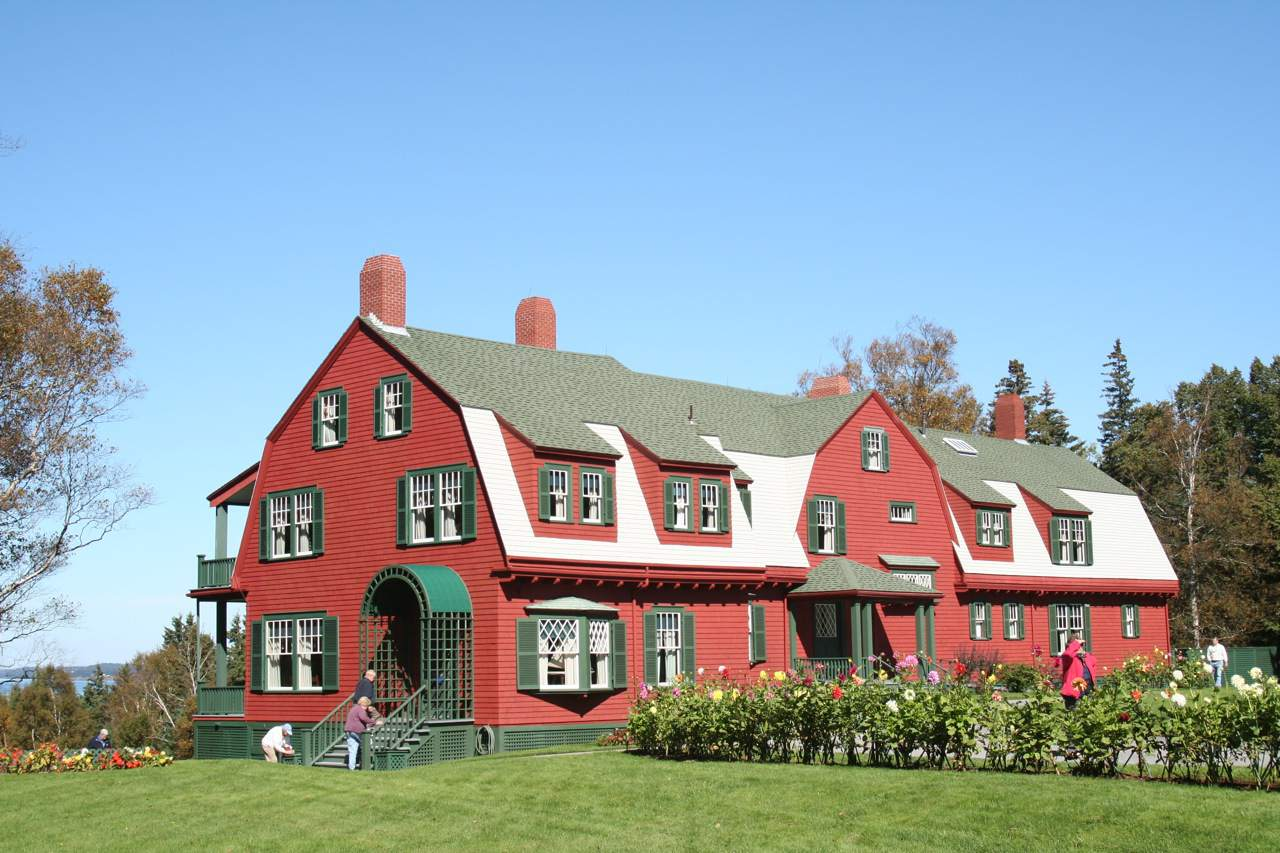 Roosevelt house in Roosevelt Campobello International Park