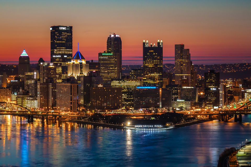 Pittsburgh Skyline at Sunrise