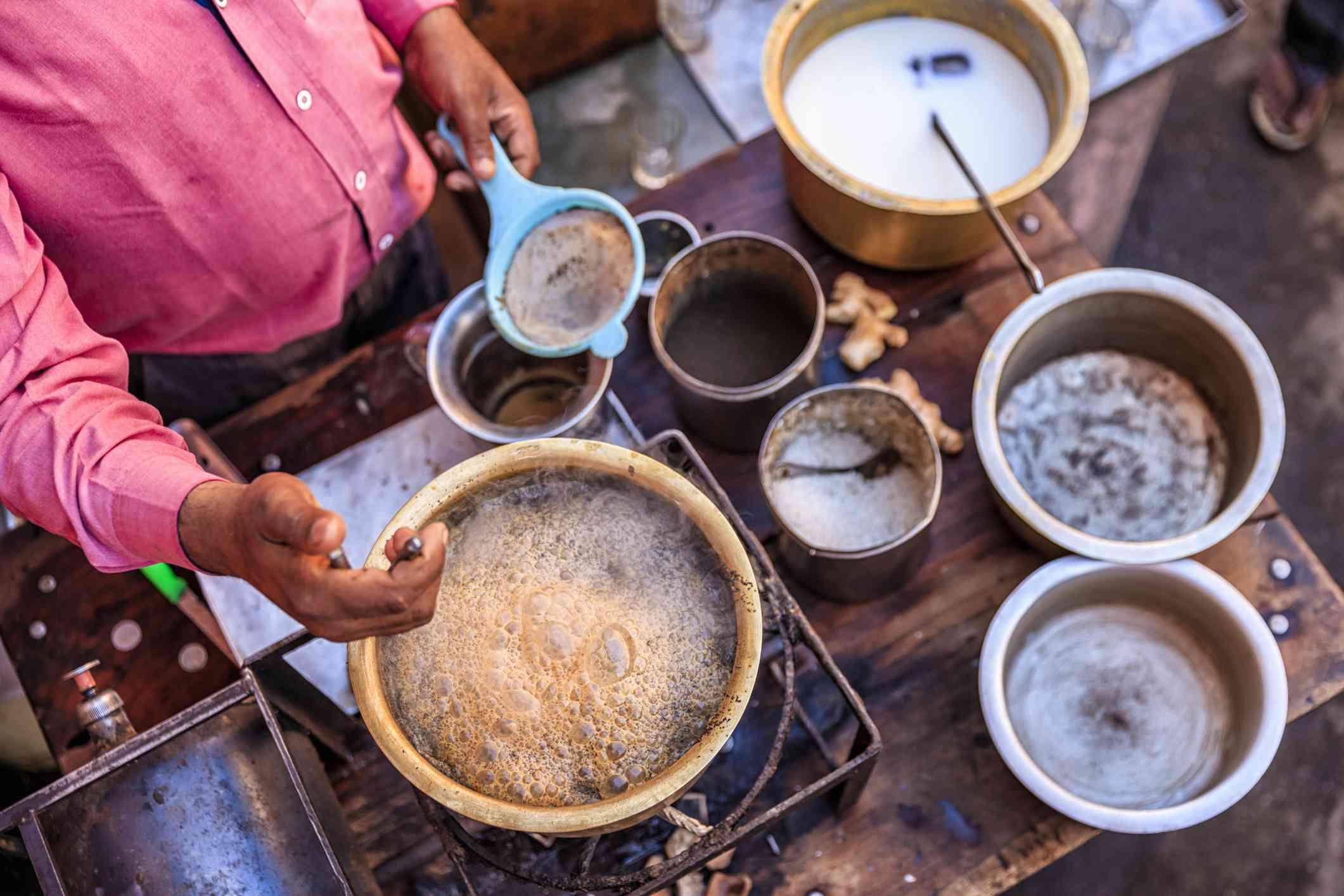 Indian tea in Jaipur.